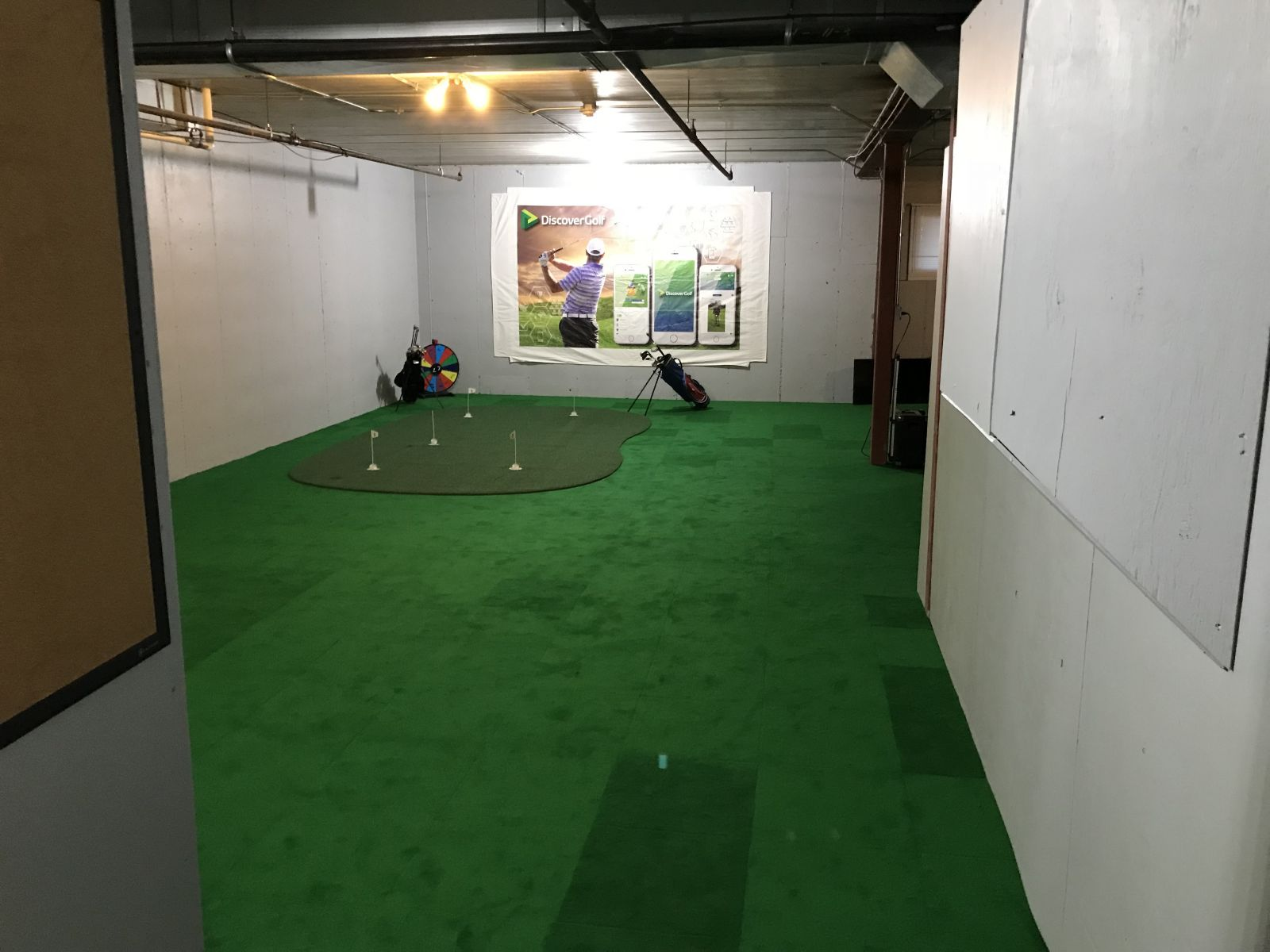 Indoor practice area